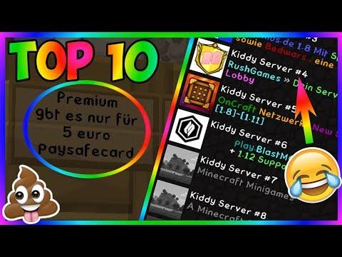 TOP 10 SCHLECHTE SERVER | Minecraft Server Vorstellung