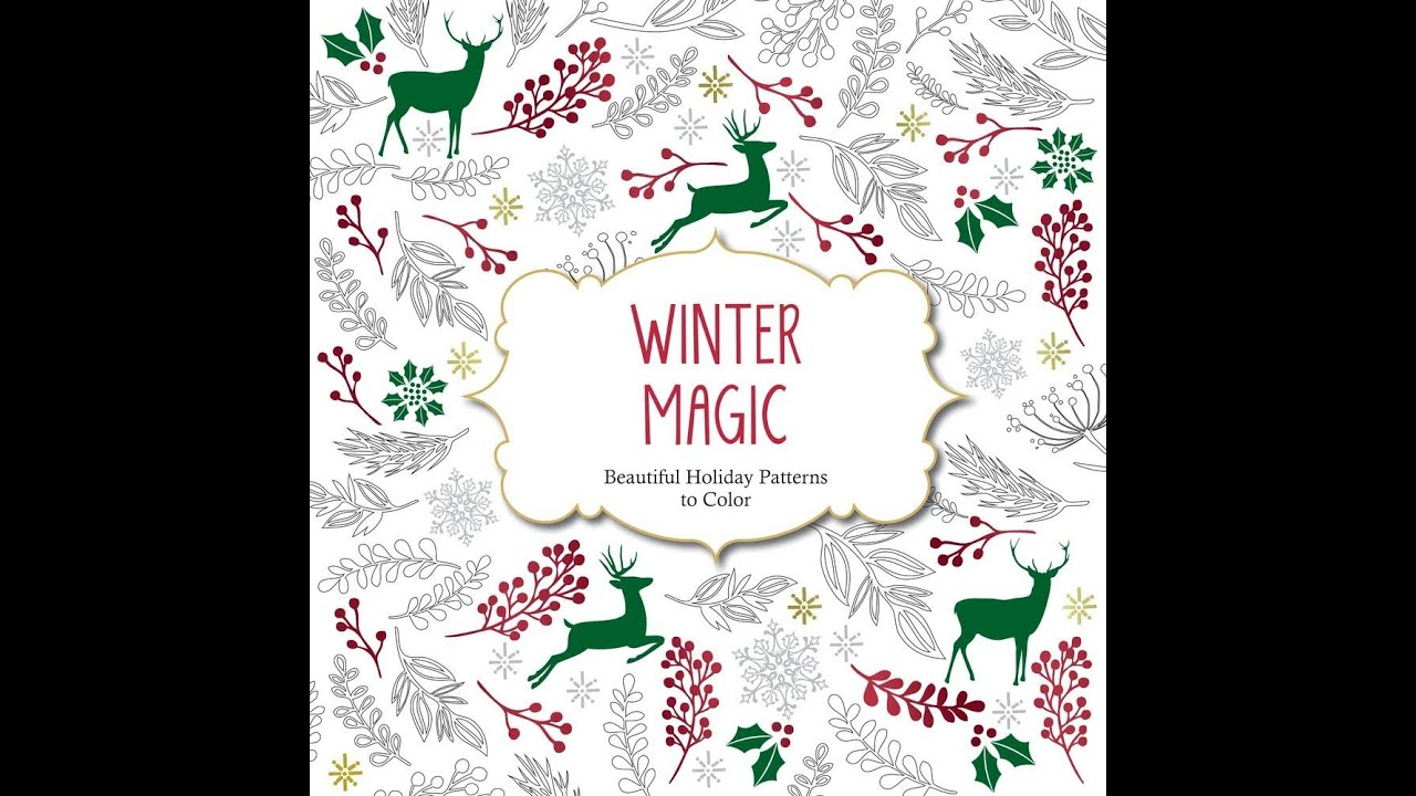 Flip Through Winter Magic Coloring Book