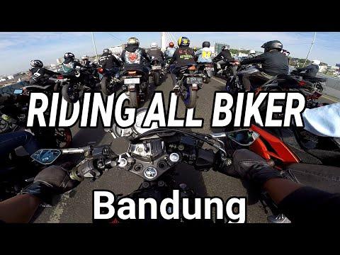 SEMUA LAMPU MERAH DI LIBAS 100 BIKER LEBIH | Riding Biker Bandung | Di Kawal Pakpol Acara Seimosmoto