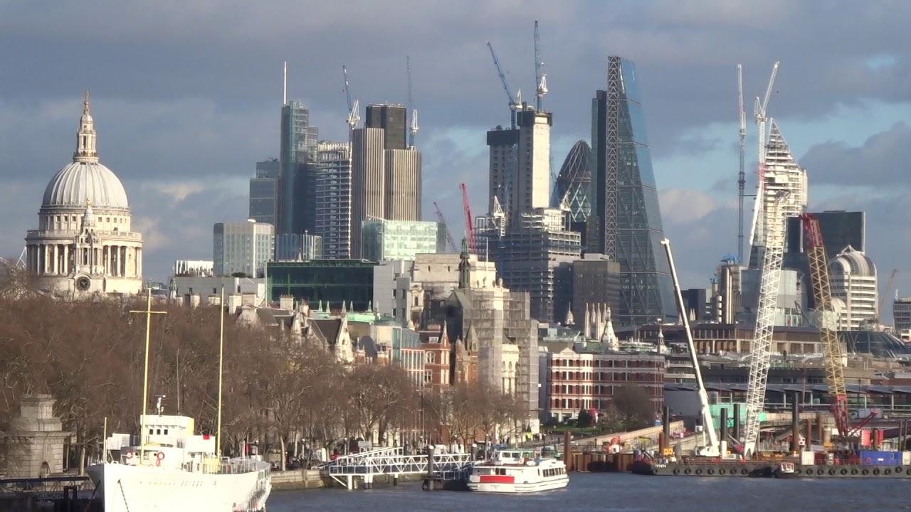London Skyline From Waterloo Bridge January 19 2018