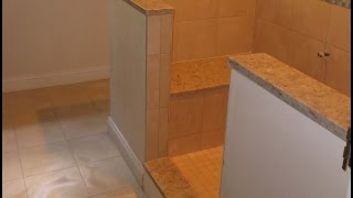 Complete Tile Shower Install Part 5. Installing Marble Seat And Sills