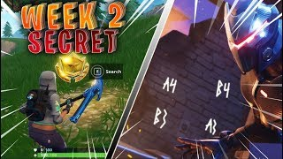 Week 2 Secret Battle Pass Star Location ! - Free Blockbuster #2 Medal !