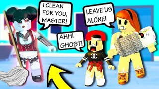 CREEPY GHOST MAID TROLL! Roblox Admin Commands | Roblox Funny Moments