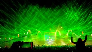 Tomorrowland Brasil 2015 (4K): Laser Show ~ Hardwell - Don
