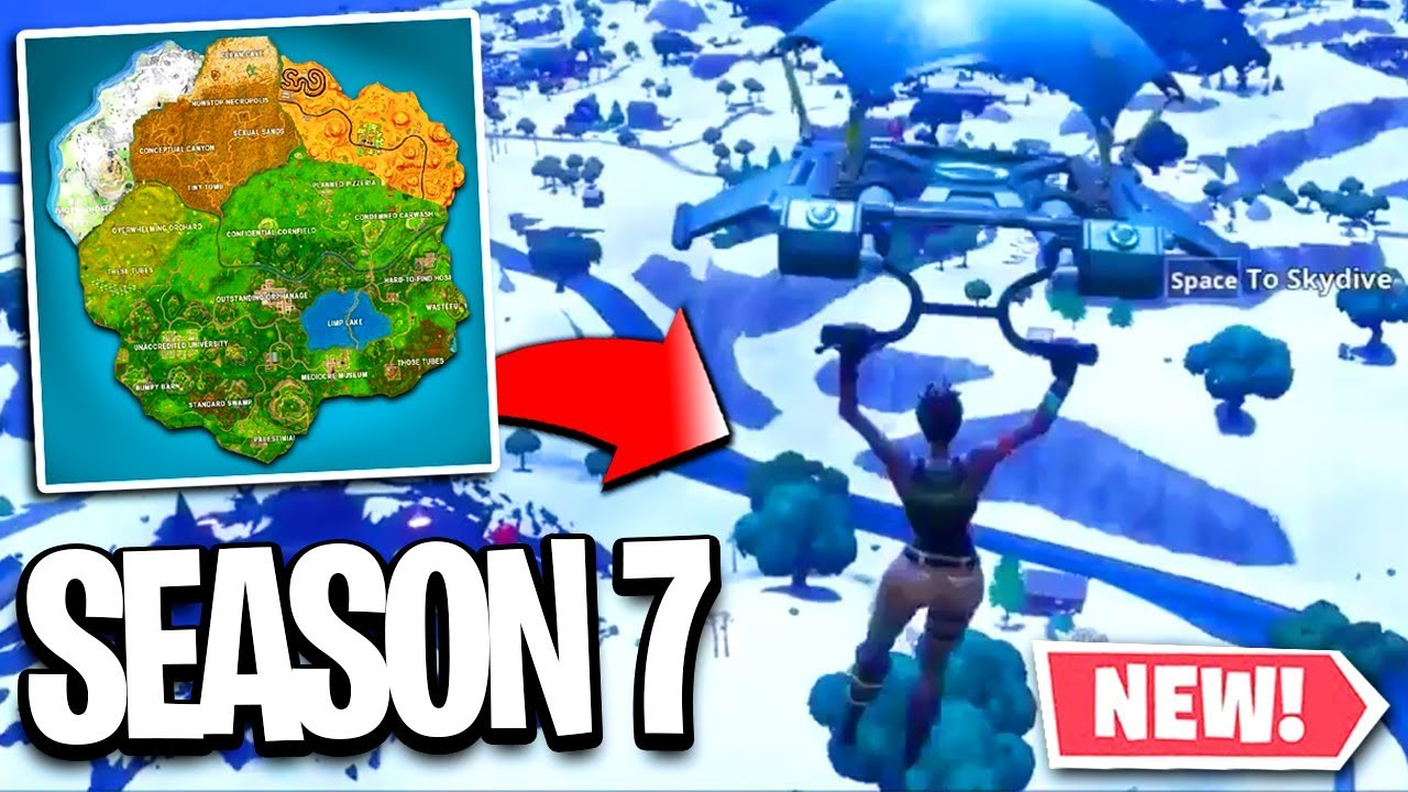 Fortnite Season 7 Map Gameplay Season 7 Fortnite Map Changes New