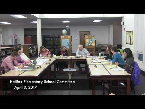 Halifax Elementary School Committee - April 3, 2017  (4/3/17)