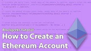 Comment Créer Un Compte De L'Ethereum