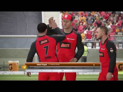 Melbourne Renegades vs Perth Scorchers - BBL 07 Ashes Cricket PS4 Gameplay