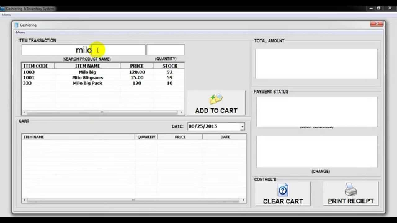 FLOTECH TUTORIAL: VB 6.0 Basic Cashiering & Inventory System - YouTube