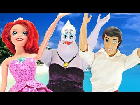 Ariel De Sirena A Princesa!!! La Historia De La Sirenita Con Ursula Y El Principe Eric Disney