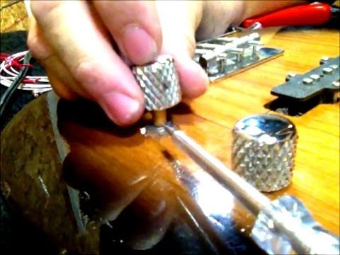solid shaft vs split shaft guitar pots fixing loose knobs