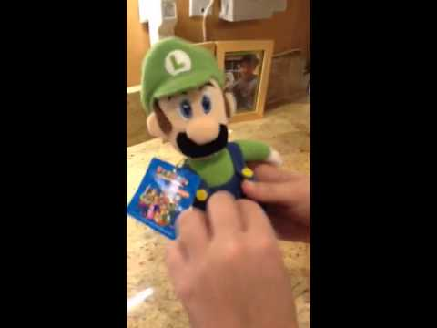 I have the mario party five luigi plush youtube - Luigi mario party ...