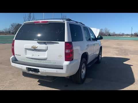 2011 WHITE Chevrolet Tahoe LS 4WD (1GNSKAE0XBR) with an 5.3L V8 OHV 16V FFV engine, 6-Speed Automatic transmission, located at 17760 Hwy 62, Morris, OK, 74445, (918) 733-4887, 35.609104, -95.877060 - Photo #0