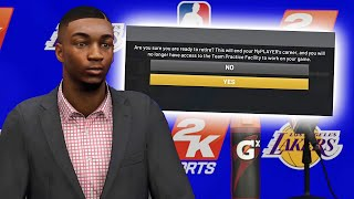 WHAT HAPPENS WHEN YOU RETIRE EARLY IN NBA 2K20!