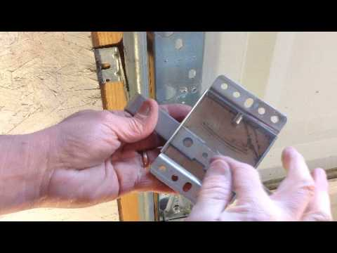 Garage Door Slide Lock Repair Youtube