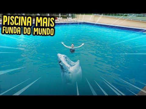 PISCINA MAIS FUNDA DE TODAS!! 8 METROS!! ( ME AFOGUEI? ) [ REZENDE EVIL ]