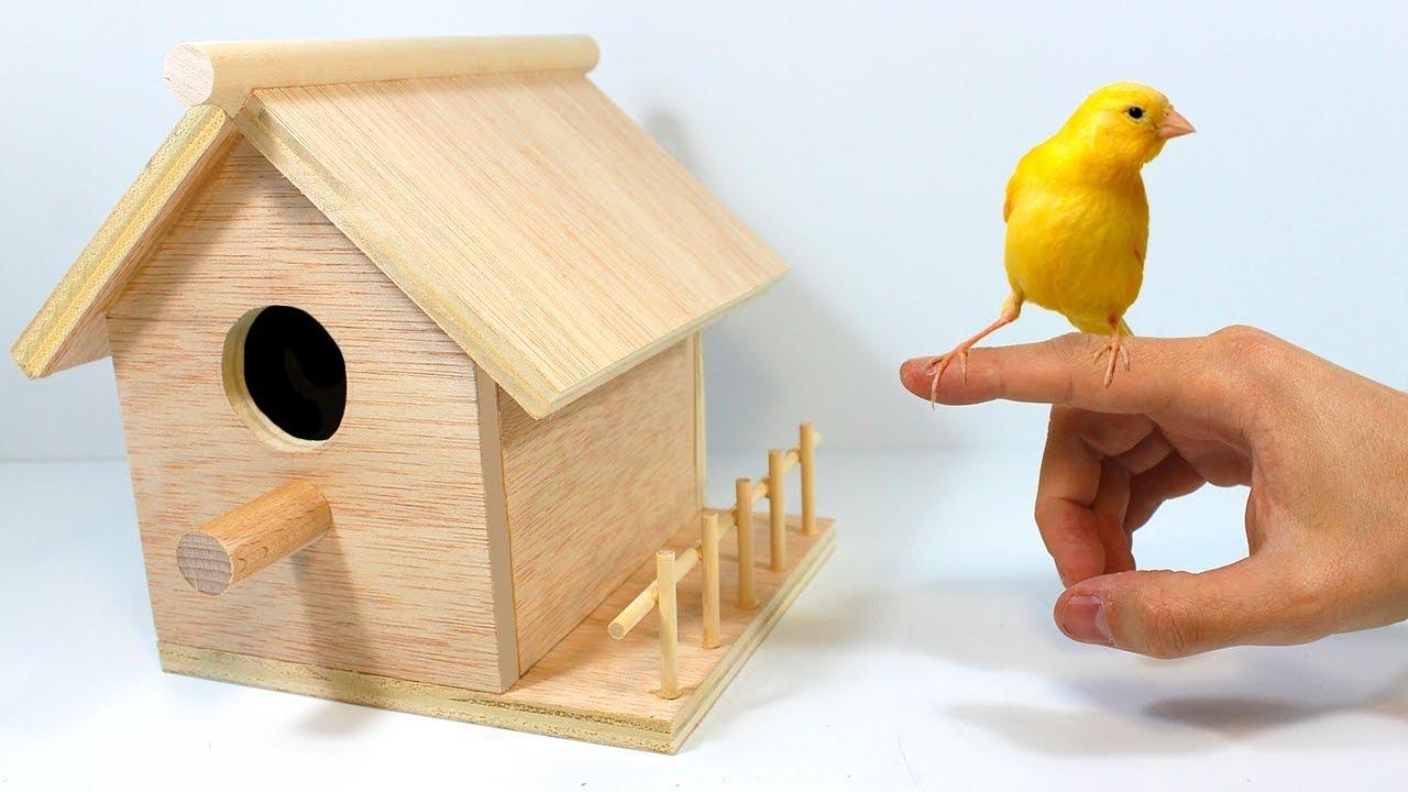 Casa de pájaro para pintar unos nidificación casita pájaros para pájaros 15x15x23 cm nuevo embalaje original