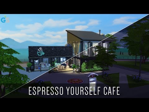 The Sims 4 | Speed Build | Espresso Yourself Cafe and Karaoke Bar