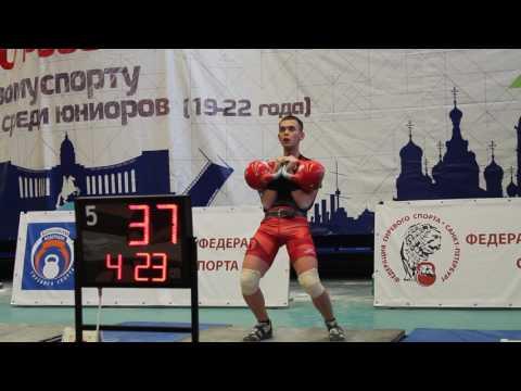 Николай Филиппов. Толчок 86 (32 кг). Первенство России 2017 (юниоры). Санкт-Петербург