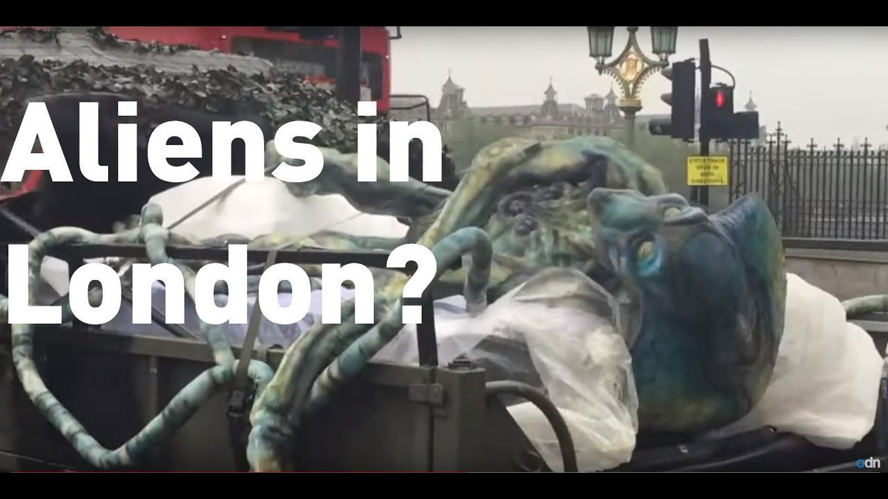 Aliens spotted in central London?