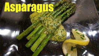 Roasted Asparagus with Lemon Chive Vinaigrette