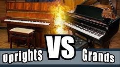Upright pianos versus Grand pianos - Uprights Vs. Grands