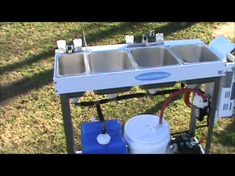 large portable concession sink hand washing