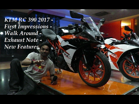 2017 KTM RC 390 - First Impressions - Walk Around - Exhaust Note - New Features.