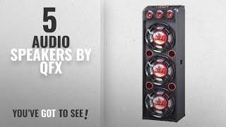 Top 5 Qfx Audio Speakers [2018]: QFX SBX-412300BT Speaker with Built-In Amplifier Bluetooth - Red