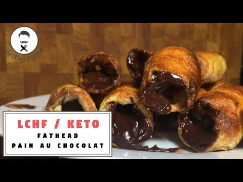 LCHF/Keto Fathead Pain Au Chocolat | The Keto Kitchen