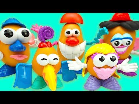 Забавные игрушки для детей. Конструктор Мистер Картошка