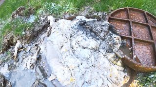 """DRAIN CLEANING VIDEO - Hospital Main 8"""" Sewer Blockage - Ep. 58 Drain Pros"""