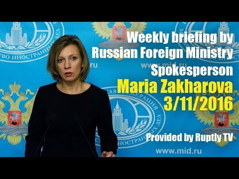 Briefing by Maria Zakharova, November 3, 2016