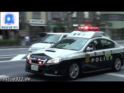 [Tokyo Police] Traffic stop - Raising lightbar