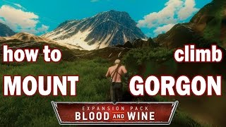 Witcher 3 Blood and Wine Mount Gorgon - How to climb the highest mountain to see CDPR Easter Egg