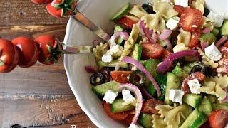 Greek Pasta Salad || سلطة_الأحد : سلطة يونانية بالمكرونة#