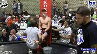 Hardrock MMA 95 Fight 11 Ethan McGee vs Stone Beverly 145 Ammy