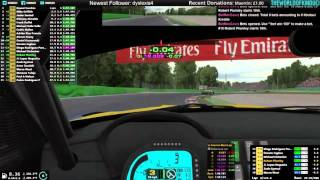 Stream footage - iRacing GT3 at Monza - SOF 2300