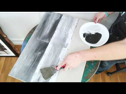 Tutorial - How to paint faux barnwood on canvas... SO easy!