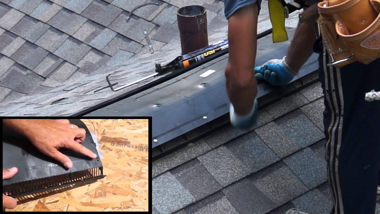 & CertainTeed Ridge Vent installation instructions - YouTube