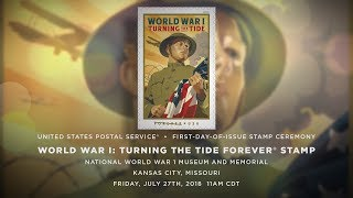 USPS World War I Turning the Tide Stamp First Day of Issue
