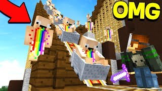 10 RAINBOW NOOBS VS EXTREME MURDERER!!!