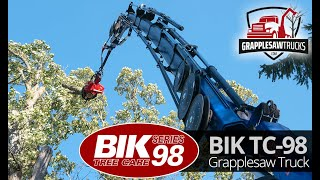 Grapplesaw Truck Mecanil SG220 and PM 48.5 Knuckleboom Crane -  remote control tree removal (2019)