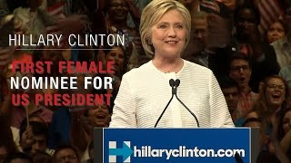 Hillary Clinton first female nominee for President of the U.S. by a major party