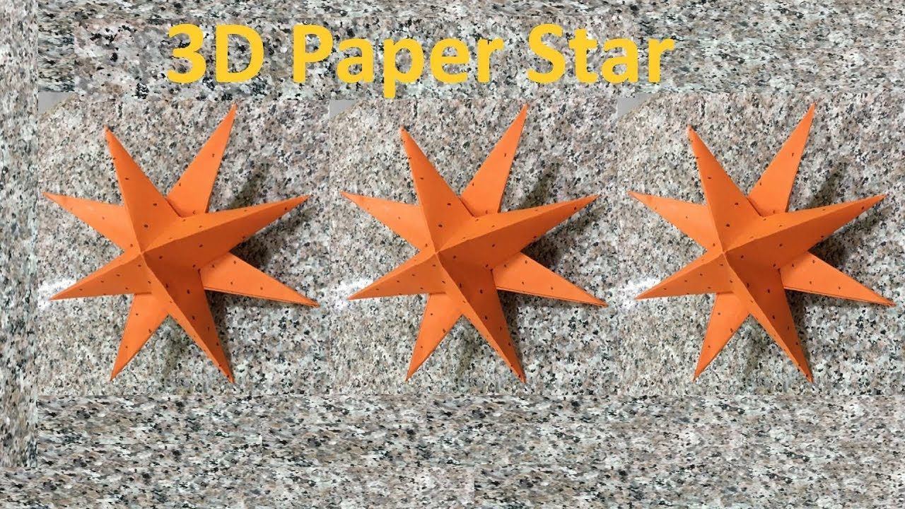 How to make a 3d paper star step by step very easy for How to make 3d paper stars easy