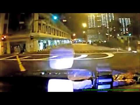 Singapore Ferrari Taxi Crash Footage