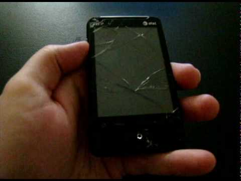 HTC Aria Shattered