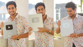 OUR Reward is Here!❤️ Live Unboxing Silver Play Button   Anmol Sachar