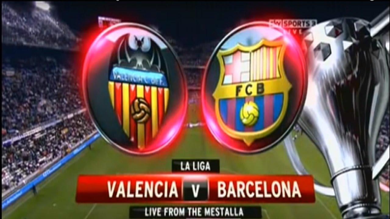 FC Barcelona vs Valencia Live Stream - YouTube