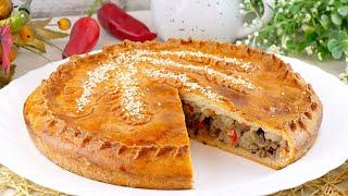 Бездрожжевой пирог с мясом и картошкой на сметанном тесте Рецепт теста без дрожжей на сметане
